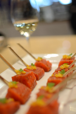 Indian lime pickle cured salmon