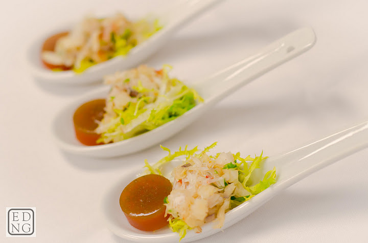 Crab salad, tomato jelly