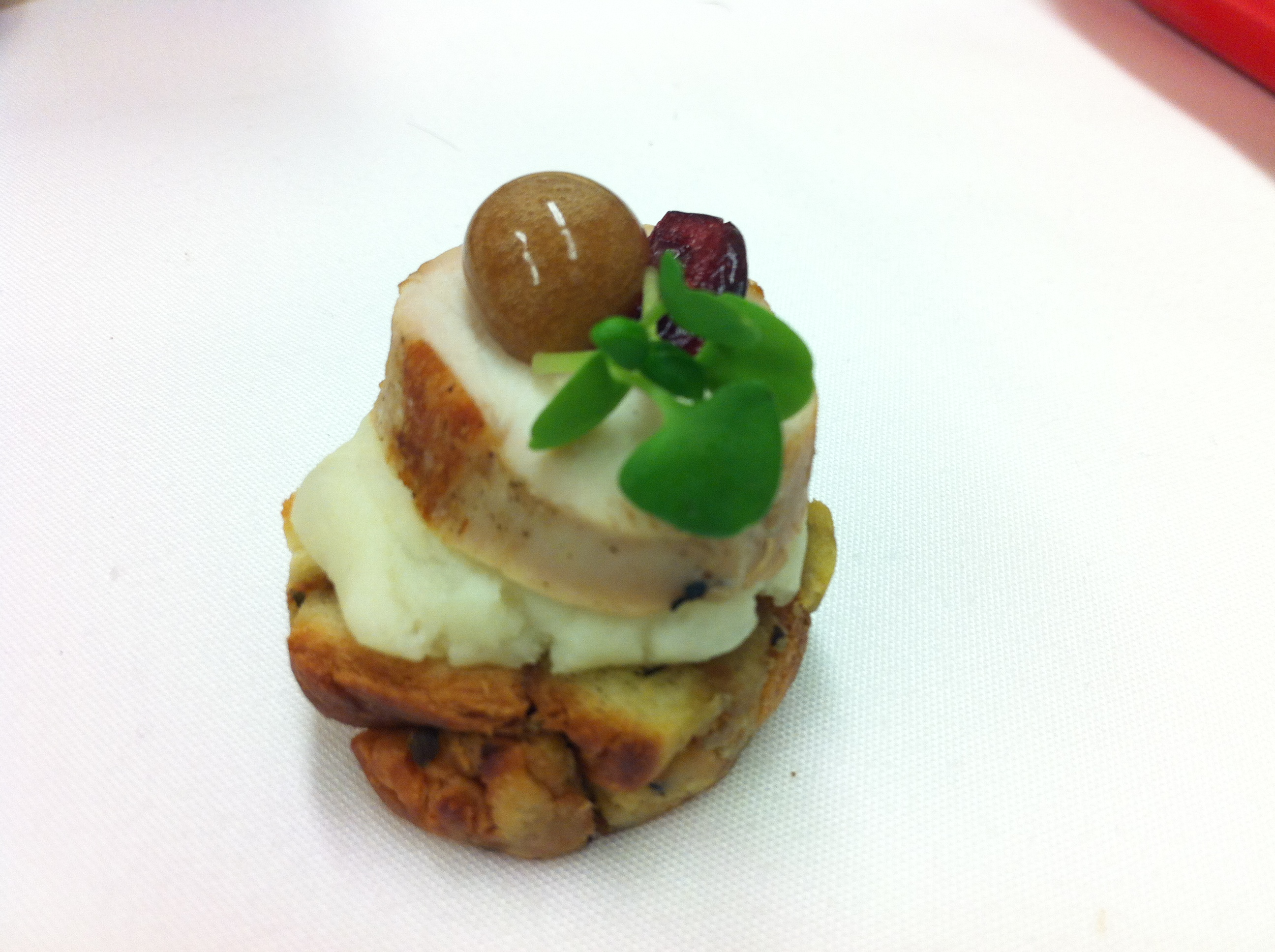 Turkey dinner canape