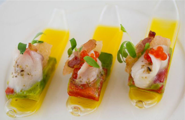 Pickerel cheek ceviche