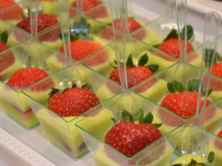 Strawberry with lime curd