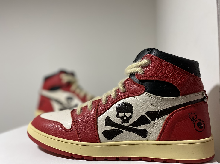 "Custom Jordan 1 - ""Skull air Lava"""