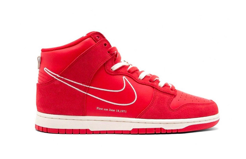 Dunk high 'First Use Red'