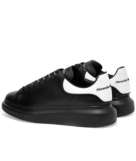 Alexander McQueen - Raised-sole low-top leather trainers