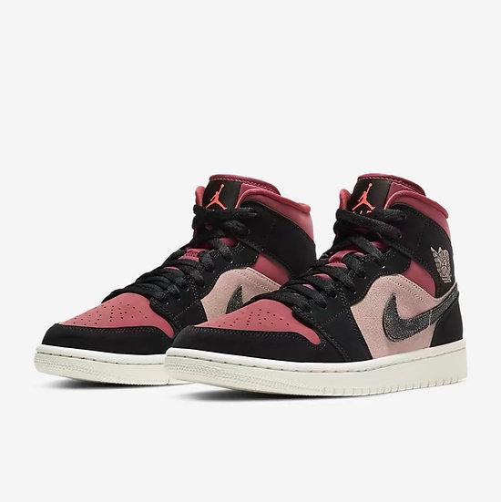 Jordan 1 mid 'Dusty pink'