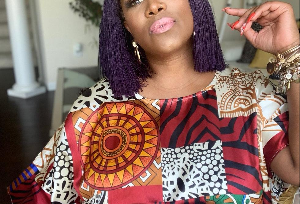Royal purple Blunt Senegalese twist