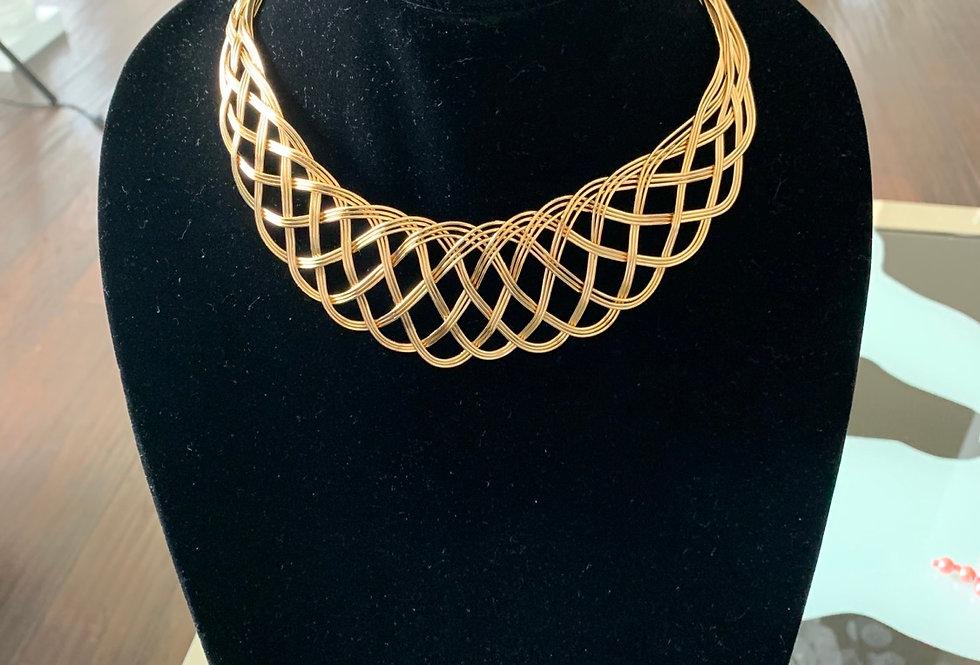 Gold Swirl choker