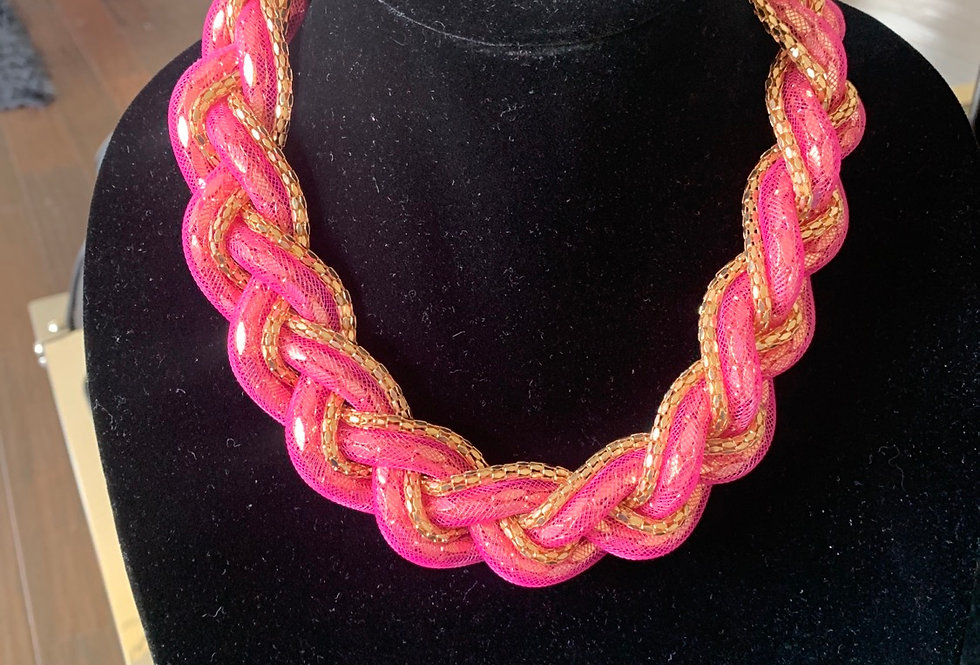 Pink braided links