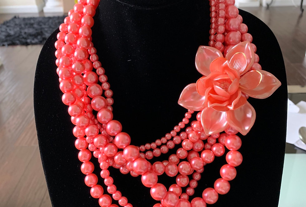 Pink pearl flower layer
