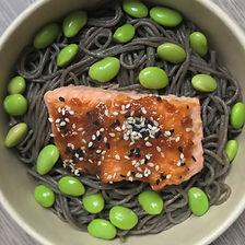saumon grillé laqué au miso