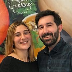 Sarah et Eric vous accueillent dans leur restaurant
