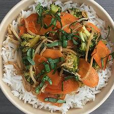légumes sauce thaï aux amandes