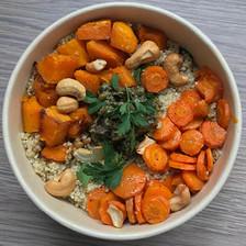 quinoa et légumes au four sauce aux câpres