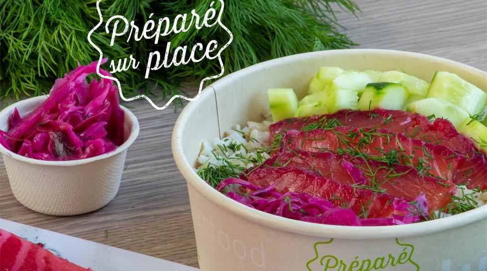 Dubble Food Salad Bowl Saumon Gravlax