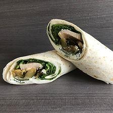 wrap courgettes & poulet