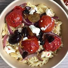 orzo , tomates à la crétoise