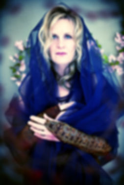 "Musician Terry Winchell photo for her album ""Blue Flower"""