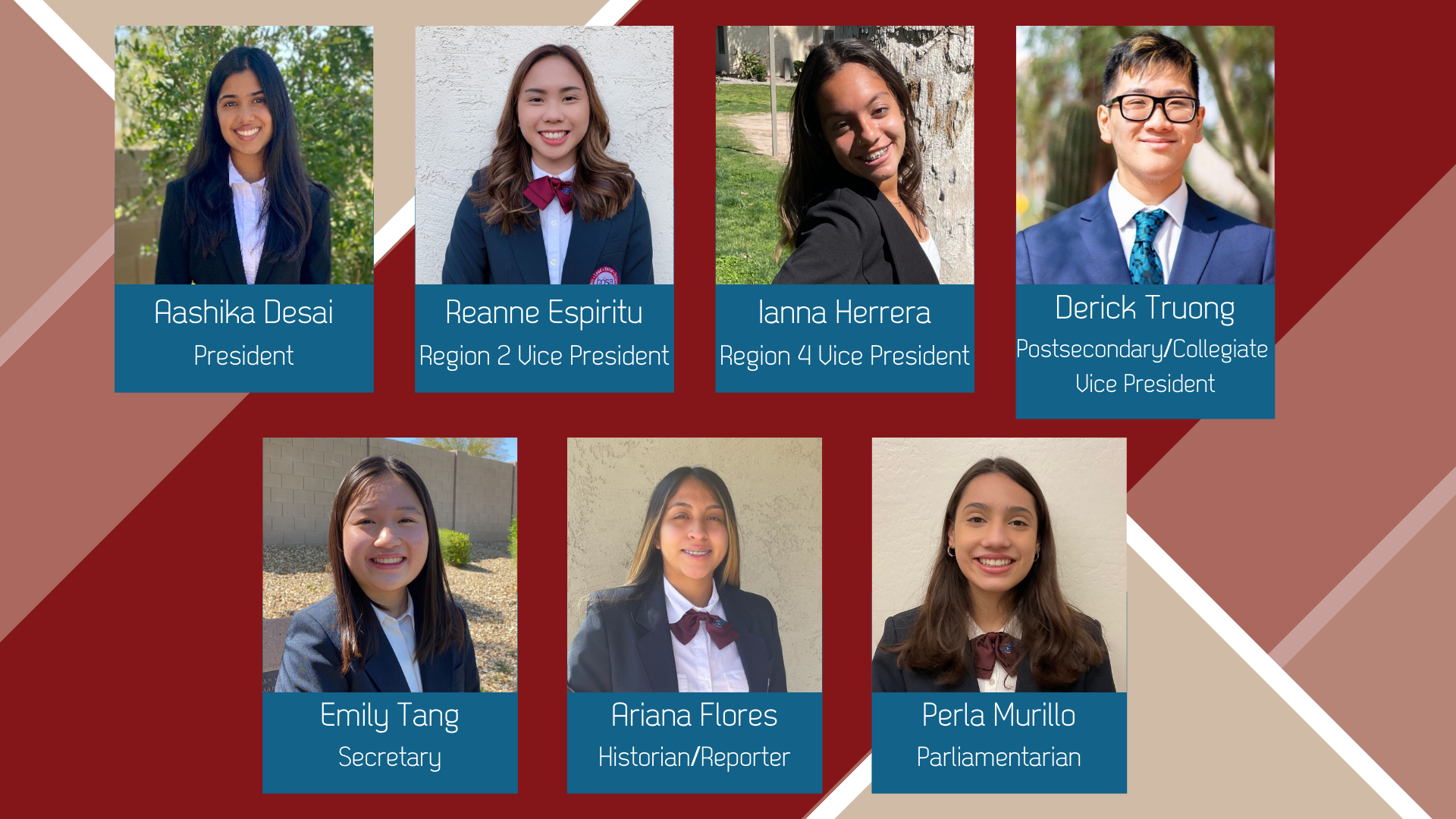 Meet the 2021-2022 State Officer Team!
