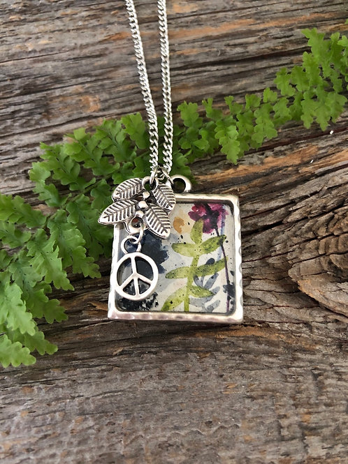 Floral with Peace Charm