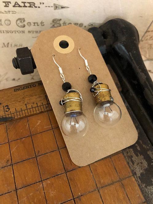 Repurposed Camera Flash Bulb Earrings