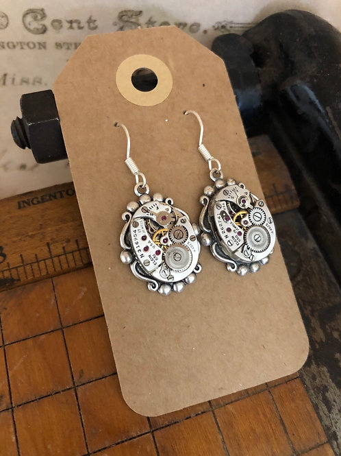 Elgin Watch Movement Earrings