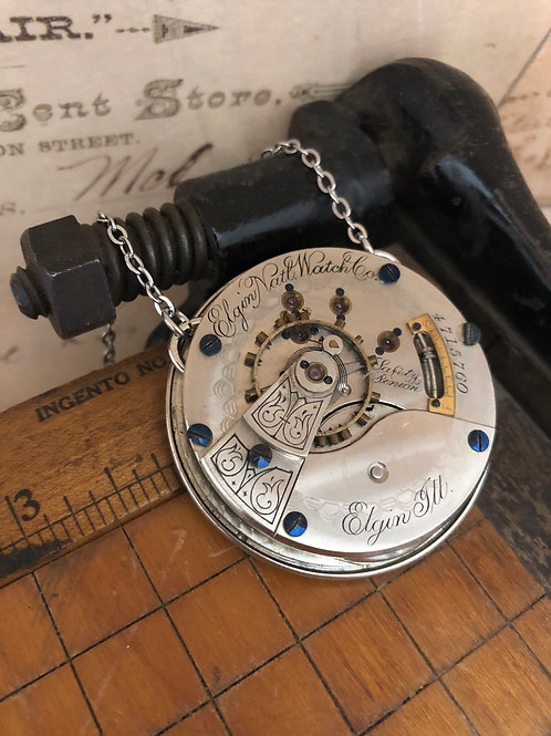 Elgin Pocket Watch Necklace