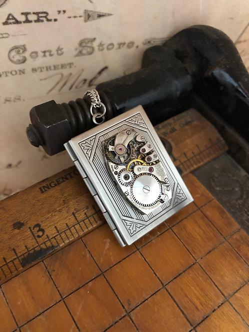 Silver Book Locket