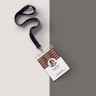 Création d'identité visuelle pour la galerie-ID-Card