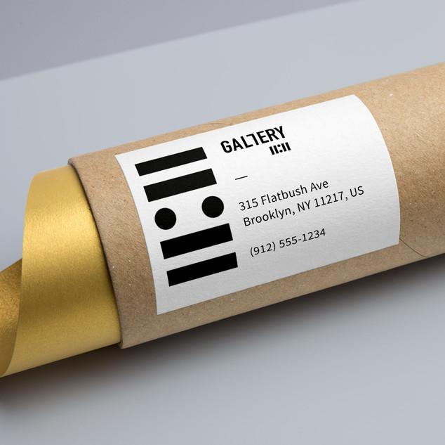 Création d'identité visuelle pour la galerie-Cardboard Tube Packaging