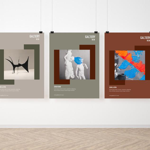 Création d'identité visuelle pour la galerie+ Affiche