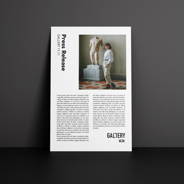 Création d'identité visuelle pour la galerie+ Press release