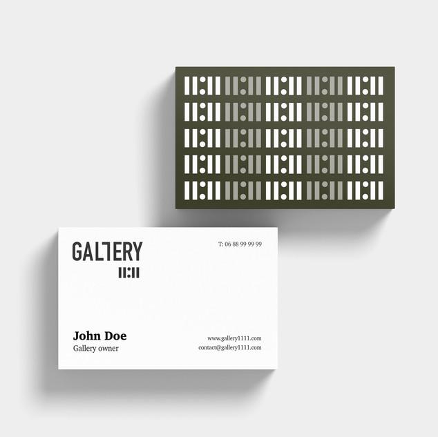 Création d'identité visuelle pour la galerie + carte de visite