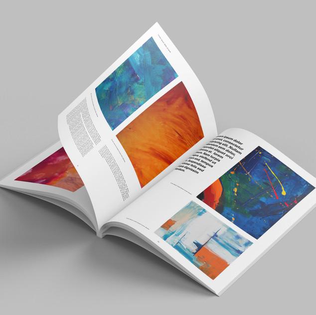 Création d'identité visuelle pour la galerie-Catalogue