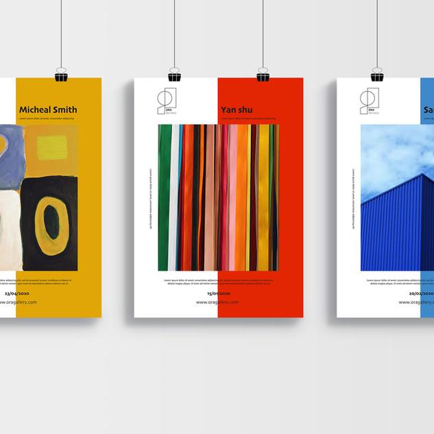 Création d'identité visuelle pour la galerie + Affiche