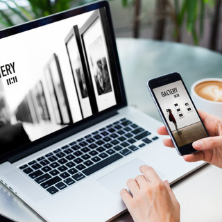 Création d'identité visuelle pour la galerie-Site web