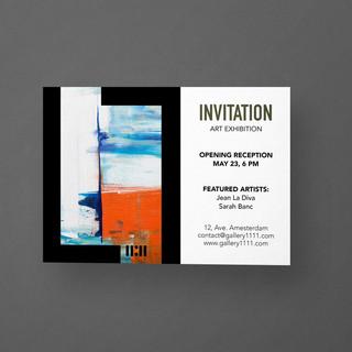 Création d'identité visuelle pour la galerie-Template pour Invitation