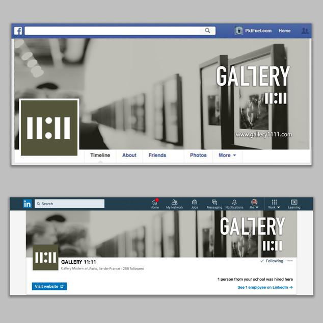 Création d'identité visuelle pour la galerie-Bannière de réseaux sociaux
