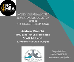 NC MEA 2021 - All State Honors Band