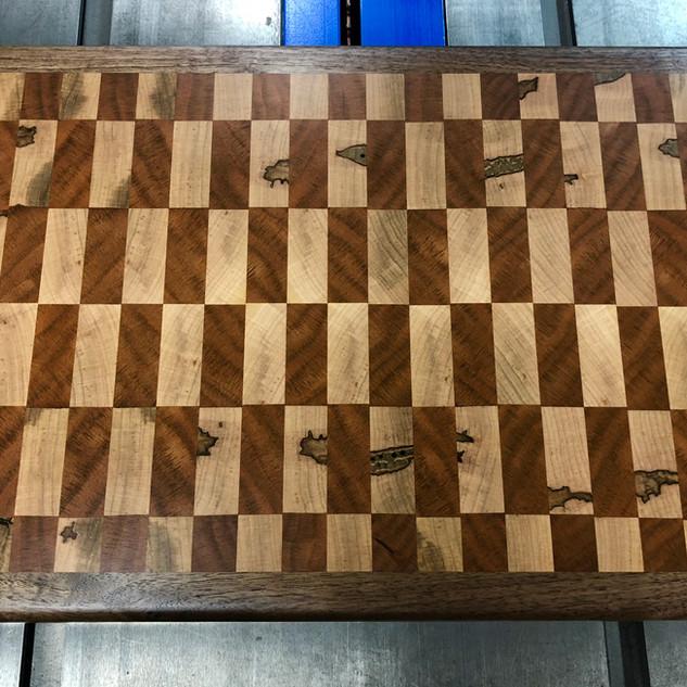 Black Walnut, Black Cherry and Ambrosia Maple End Grain Cutting Board
