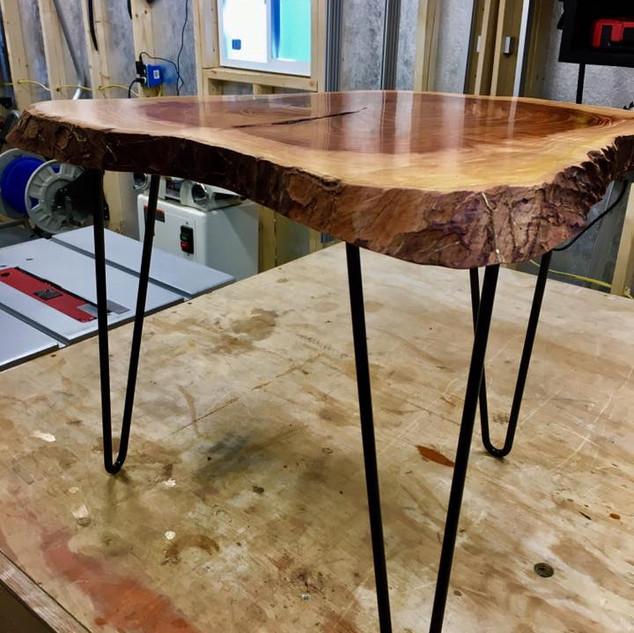 Elm Slab Side Table