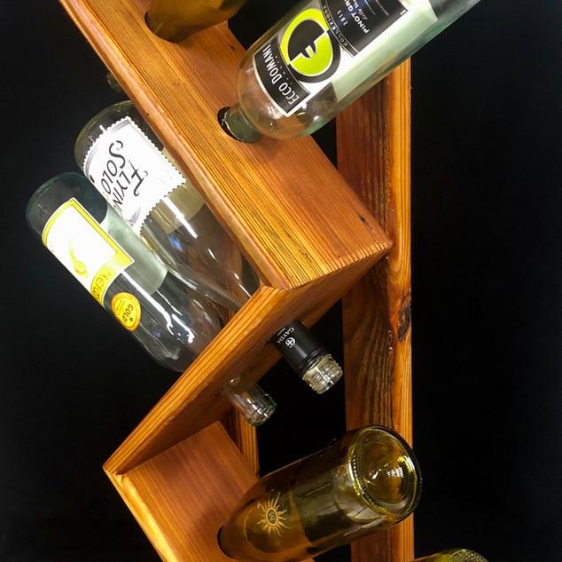 1810's Barnwood 6 BottleWine Rack