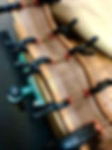 Walnut guitar side braces added