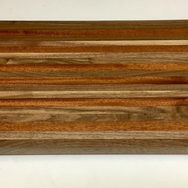 Black Walnut and Quartersawn Sapele Cutting Board