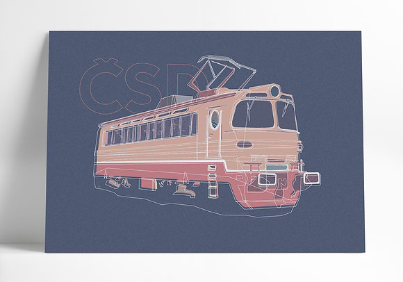 Elektrický rušeň 230, Laminátka – Grafika A3
