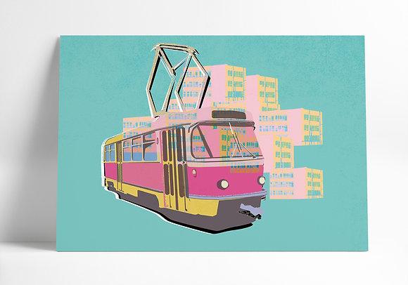 Tramvaj T3 – Grafika A3