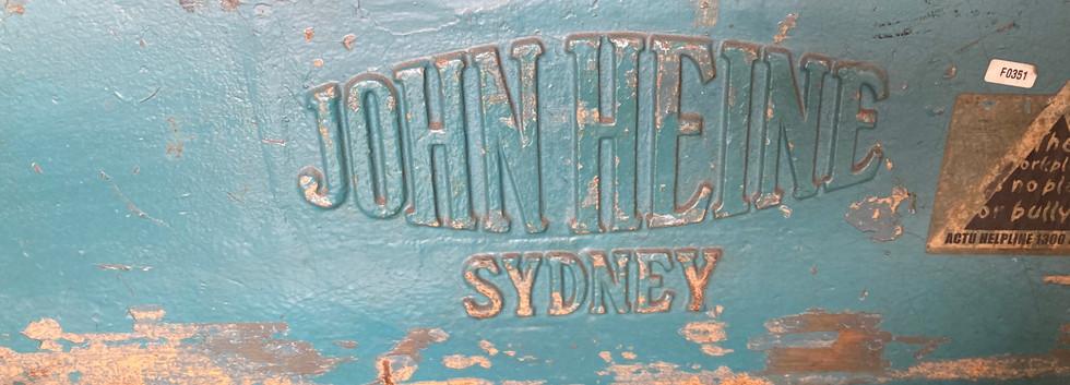 John Heine 104B Mechanical Guillotine