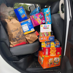 SNACKS FOR SOLDIERS AT FRAN'S SUPER CUTS 2020