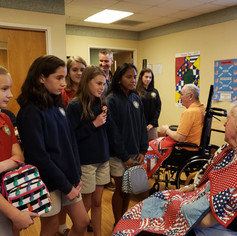 ST. MARY ACADEMY STUDENTS  DOUGLAS T. JACOBS VETERANS HOME 2019