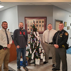 HERO TREE AT CHAMPAIGN COUNTY SHERIFF'S DEPARTMENT 2020