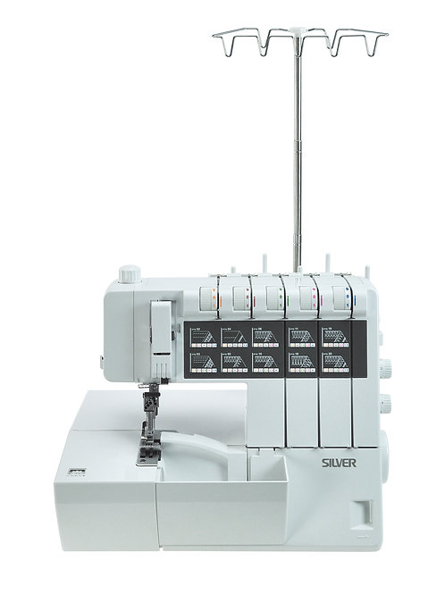 Silver 5 Thread Overlock & Cover Hem L10A